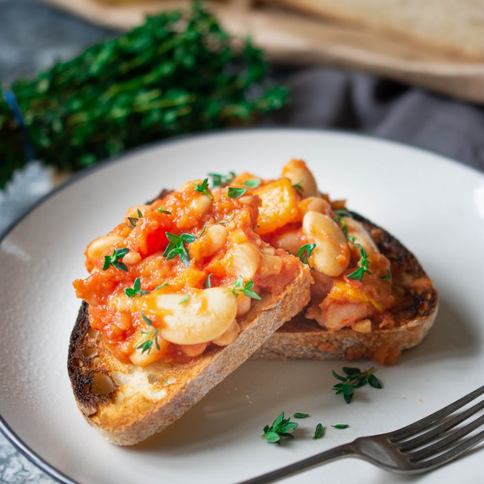 SB – Squash and cowboy beans on sourdough