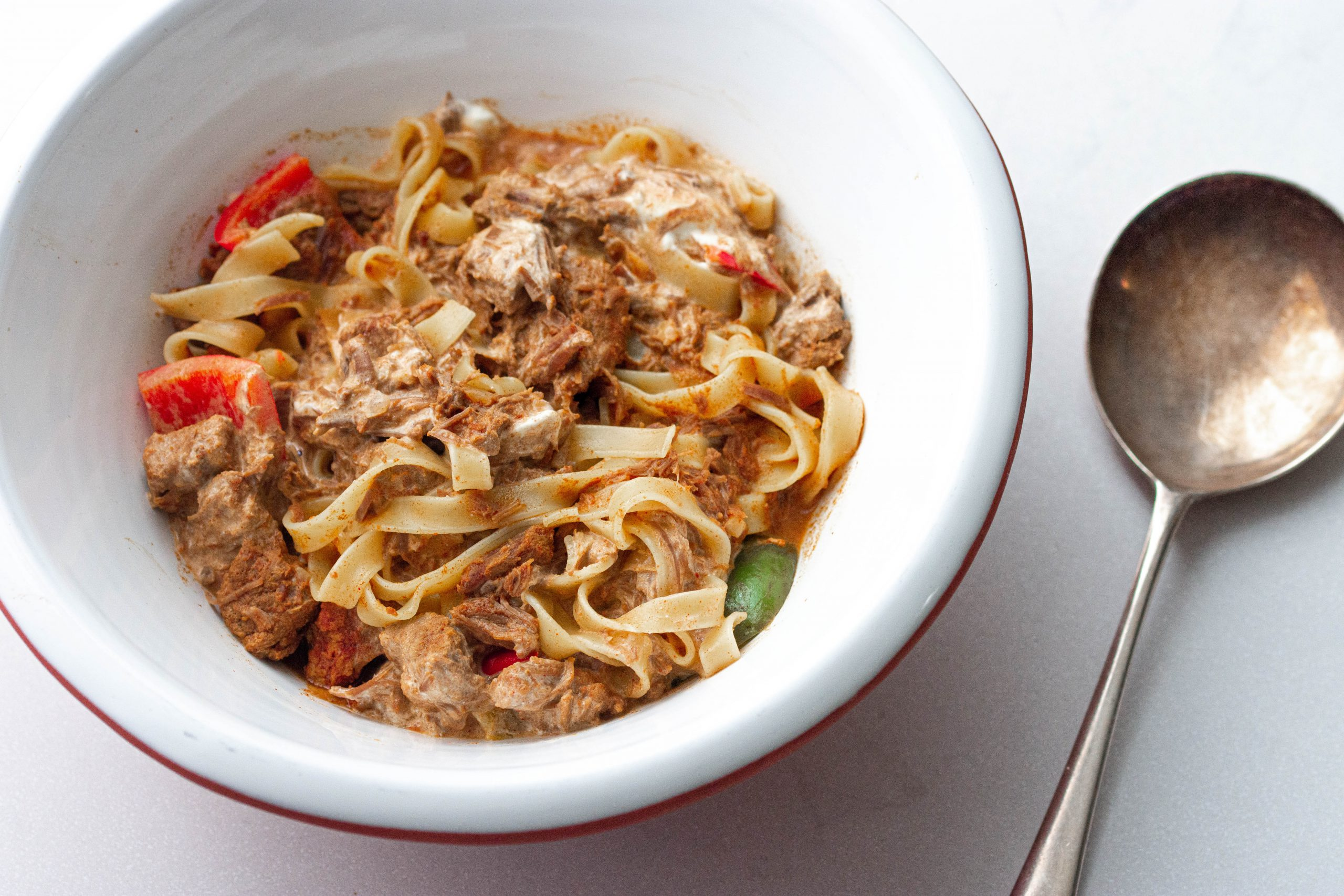Slow Cooker Beef Goulash and Pasta