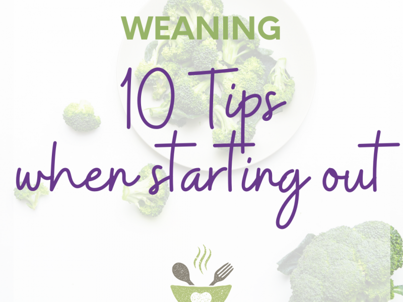 10 tips when starting out with weaning